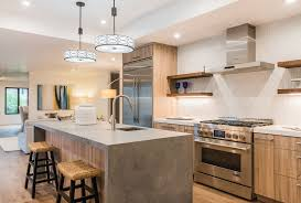 Rugged Concrete Design Of Houston Spice Up Your Kitchen With These Kitchen Island Trends