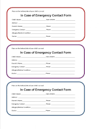 Free Employee Emergency Contact Form 201309 Word Inherwake