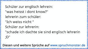 Schüler Zur Englisch Lehreinwas Heisst I Dont Knowlehrerin Zum