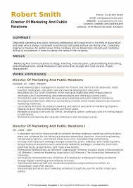 sample public relations resume director of marketing and public relations resume samples qwikresume