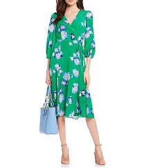Eliza J Dress Size Chart Eliza J Floral Print Tie Waist Faux Wrap Midi Dress