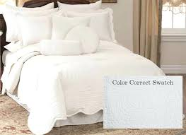 White Bedspread King White Quilted King Size Pillow Shams White ... & White Chenille Bedspread King Size White Quilt Queen Quilting White  Coverlet King Size White Quilted King Adamdwight.com