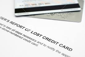 Lost Credit Card Report Royalty Free Stock Image