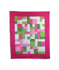 271 best Quilt Patterns & Kits images on Pinterest | Sconces, Baby ... & Baby Girl Quilt Kit in Pink and Green using Atkinson Designs Yellow Brick  Road Beginner Quilt Adamdwight.com