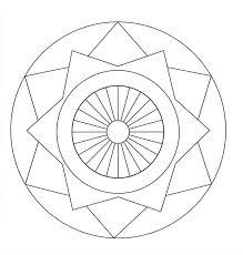 Easy Mandala Coloring Pages Free Printable Mandalas For Kids Best
