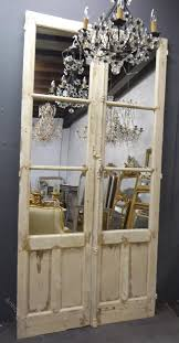 large mirrored antique french doors c 1850