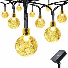jianyi solar string lights 6 meters 30 led globe ball fairy string lights with 8