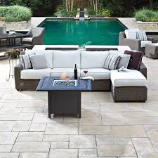 paddock pools patio furniture. whitecraft by woodard augusta sofa - create a peaceful and luxurious place to relax on your patio with the . paddock pools furniture