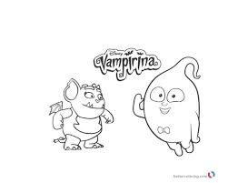 Vampirina Coloring Page Black And White Free Printable Coloring Pages