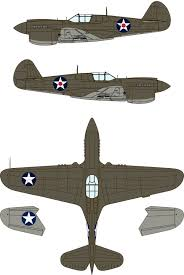Curtiss P-40E Warhawk USAAF <b>Two</b>-<b>Color Camouflage</b> Color ...