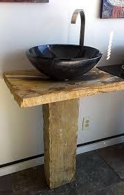 metallic black glass vessel sink beige natural river cobble pedestal sink with vessel bowl