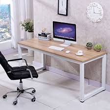 Amazoncom CHEFJOY Computer Desk PC Laptop Table Wood Work Station