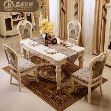high end dining room furniture. aliexpresscom buy the marble dining table set ottoman chair room furniture by high end european antique solid wood from reliable