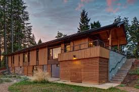 Brett Sichello Design Pumpkin Ridge Passive House At Dusk In Oregon By Hammer And