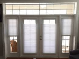 attractive shades for french doors in window treatments and skylights made the shade