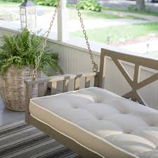 Belham Living Cottonwood Deep Seating 64 in. Porch Swing Bed with Cushion |  Hayneedle