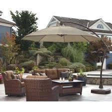 11 ft patio umbrella pro shade cantilever patio umbrella furniture in ca 11 ft led offset
