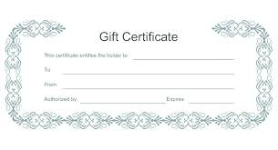 Download Gift Certificate Template Word Gift Certificate Template