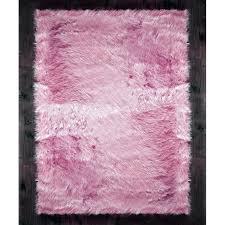 pink faux sheepskin rug area fur