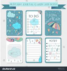 Memo Card Template Printable Notes Journal Cards Labels Memo Stock Vector Royalty Free