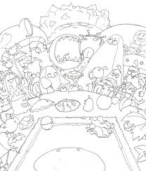 Small Picture Download Coloring Pages Plants Vs Zombies Coloring Pages Plants