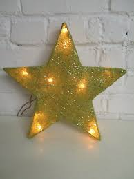 Dekoration Stern Gold Weihnachtsdeko Licht Weihnachten