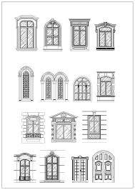 window designs drawing. Plain Designs Ornamental Door U0026 Window Bundle U2013 CAD Design  Free BlocksDrawings Details Inside Designs Drawing Pinterest