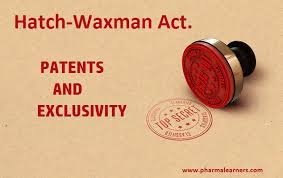 Types Of Patents Exclusivity And Hatch Waxman Act Pharmalearners
