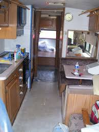 Renovate Kitchen Cabinets Affordable Rv Makeover Inexpensive Camper Remodeling Ideas Rv