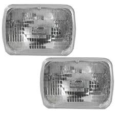 Rectangle Sealed Beam Headlamps Headlights Pair Set of 2 for Chevy ...