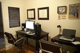 home office with two desks. Two Desks Office Home With I