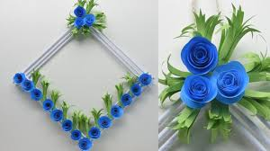 diy paper flower wall hanging wall decoration ideas how to make easy paper flower wall hanging smart easy ideas