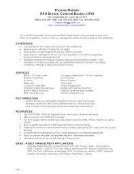 Reo Broker Cover Letter Pleasant Real Estate Salesperson Resume On