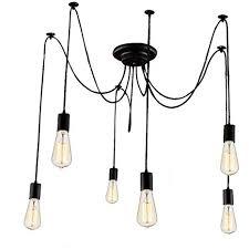 adjustable lighting fixtures. Lemonbest 6 Head E27 Vintage DIY Ceiling Chandelier Light Fixtures Antique Adjustable Flush Mount Pendant Lighting