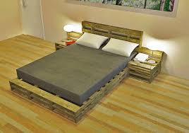 Living Dome Rental Room Do-it-Yourself-Replicable Pallet Furniture Bed and  End Tables