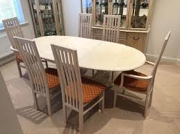 G Plan Trade Winds Limed Oak Dining Table 6 Chairs In Lincoln