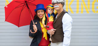 Small Picture Family Halloween Costume Pinocchio Jiminy Cricket and Gepetto