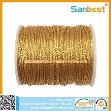 China <b>3</b>/<b>6</b>/<b>9</b>/12 Strands Metallic Weaving Thread - China Metallic ...