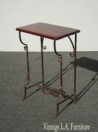 post 1950 iron side table vatican