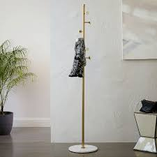 Gold Coat Rack Deco Marble Coat Rack west elm 2