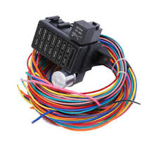 12 circuit basic wire harness fuse box street hot rat rod wiring car image is loading 12 circuit basic wire harness fuse box street
