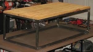 Industrial Coffee Table Custom Made Modern Industrial Coffee Table By Bama Metal Fab