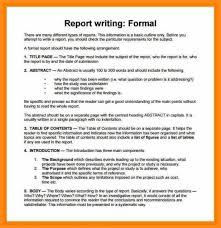Sample Formal Report Report Writing Samples Major Magdalene Project Org
