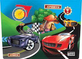 Araba Desenli Çok Amaçlı Çocuk Aktivite Masası