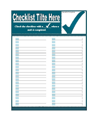 Microsoft Word Checklist Template Download Free Fascinating Printable To Do List Checklist Templates Excel Word In Checklist