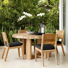 outdoor round dining table improbable larnaca williams sonoma interior design 0
