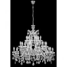 marie therese chandelier very large 30 light chrome crystal