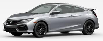 2019 Honda Civic Color Chart 2020 Honda Civic Si Coupe And Sedan Paint Color Options