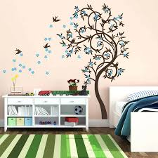 bird and tree wall decals stylish curved tree with birds wall sticker by wall  art stylish . bird and tree wall ...