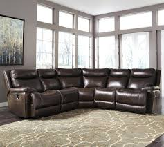 ashley leather sectional signature design by contemporary match power reclining furniture ling sofa alliston bonded leathe